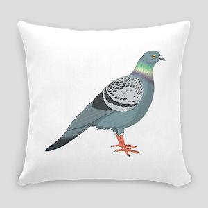 Grey pigeon Everyday Pillow