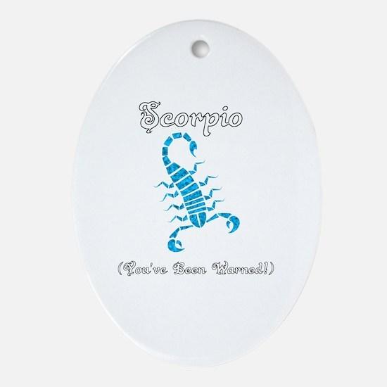 Cool Scorpion Oval Ornament