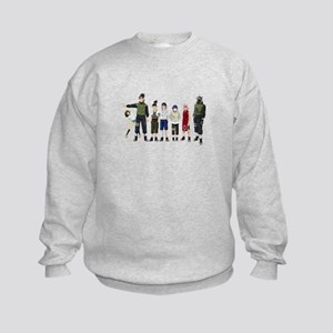 Anime characters Kids Sweatshirt