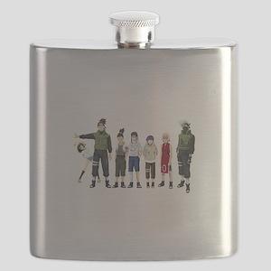 Anime characters Flask