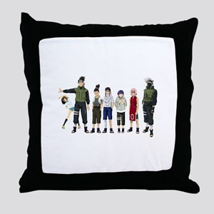 Anime characters Throw Pillow
