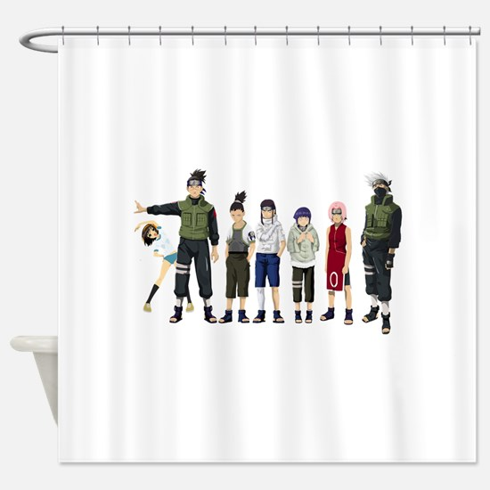 Anime characters Shower Curtain