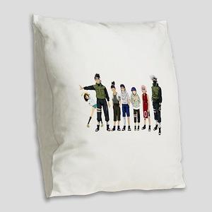 Anime characters Burlap Throw Pillow
