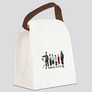 Anime characters Canvas Lunch Bag