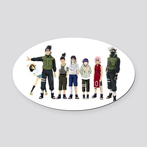 Anime characters Oval Car Magnet