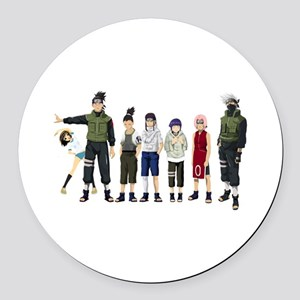 Anime characters Round Car Magnet