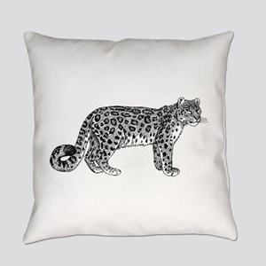 Snow leopard Everyday Pillow