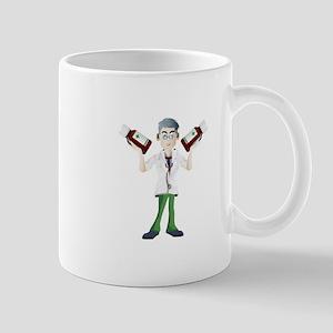 Doctor cartoon with tonic Mugs