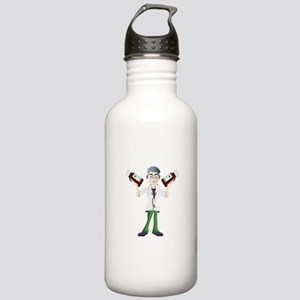 Doctor cartoon with to Stainless Water Bottle 1.0L