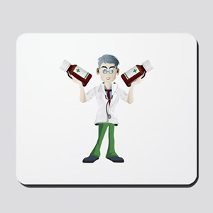 Doctor cartoon with tonic Mousepad