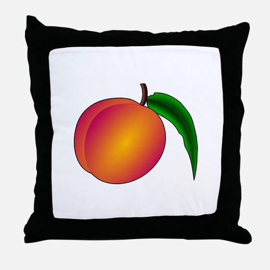 Coredump Peach Throw Pillow