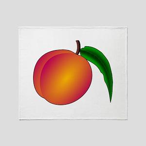 Coredump Peach Throw Blanket