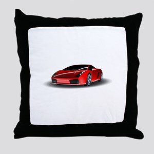 Red lamborghini Throw Pillow
