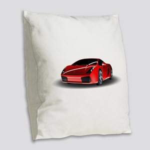 Red lamborghini Burlap Throw Pillow