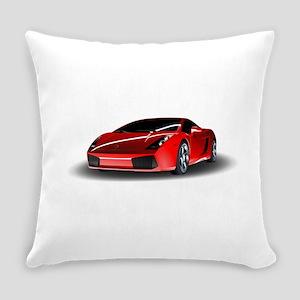 Red lamborghini Everyday Pillow