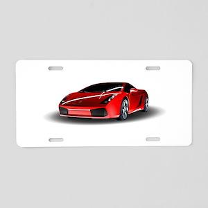 Red lamborghini Aluminum License Plate