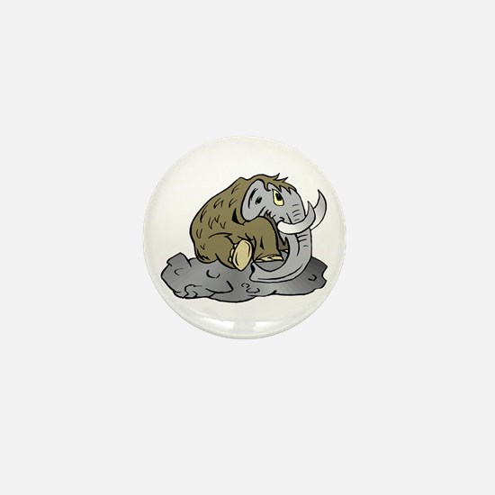 Mammoth in Tar Pit Mini Button