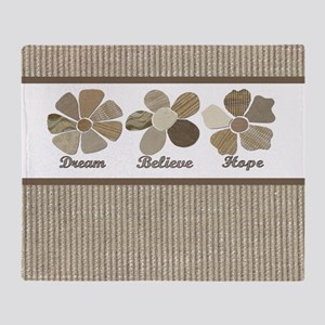 Dream Believe Hope Inspirational Fabric Collage Th