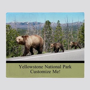 Yellowstone Wild Bears Customizable Throw Blanket