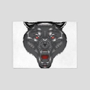 Alpha wolf 5'x7'Area Rug