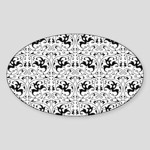 Vintage Black White Swirl Sticker