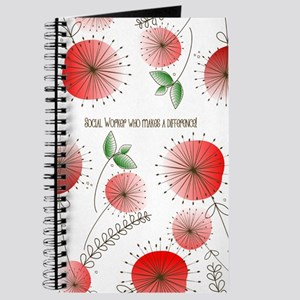 Social Worker Floral Art Journal