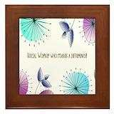 Social worker appreciation Framed Tiles