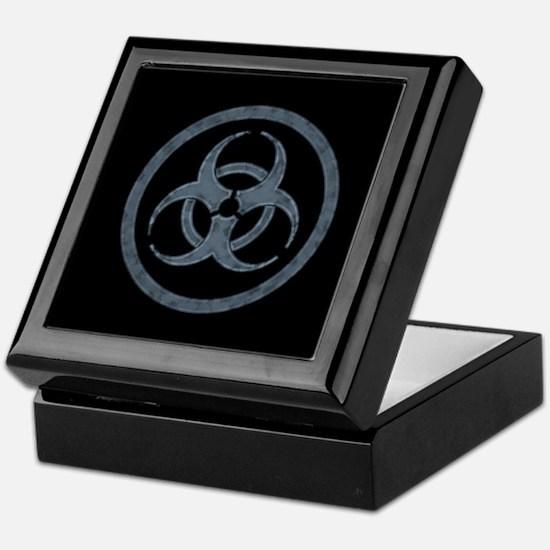 Stone Gray Biohazard Symbol Keepsake Box