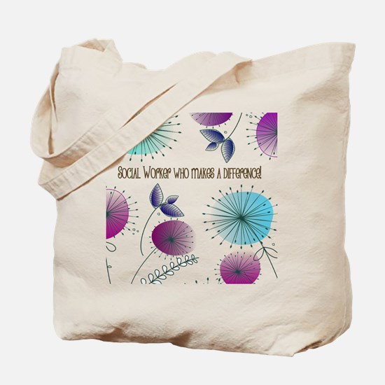 Cute Thank social worker Tote Bag