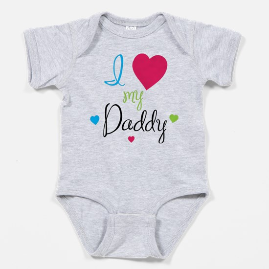 Cute I love mommy and daddy but nana Baby Bodysuit