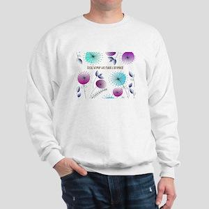 Social Worker Floral Art Sweatshirt