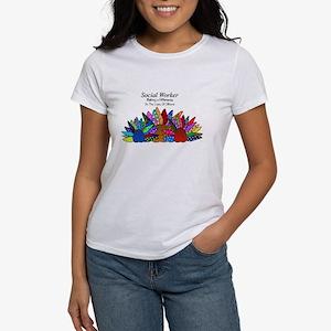 Social Worker Floral Art T-Shirt