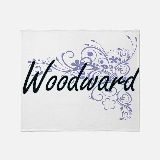 Woodward surname artistic design wit Throw Blanket