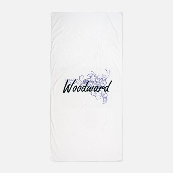 Woodward surname artistic design with Beach Towel