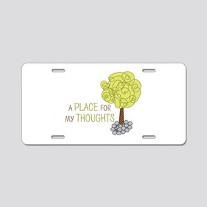 Thoughts Tree Aluminum License Plate