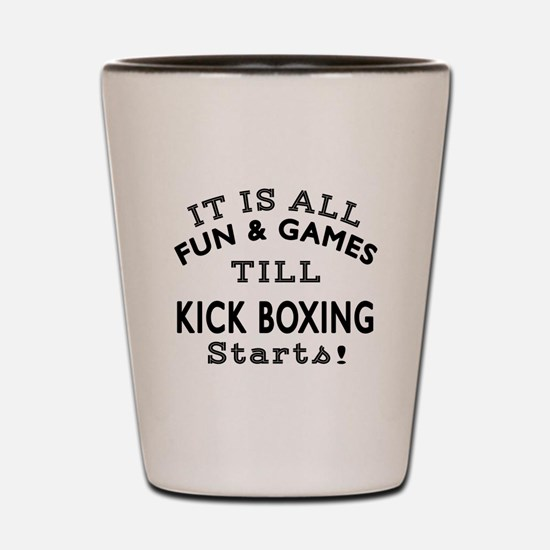 Kick Boxing Fun And Game Designs Shot Glass