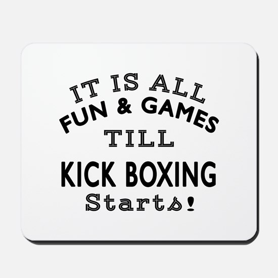 Kick Boxing Fun And Game Designs Mousepad