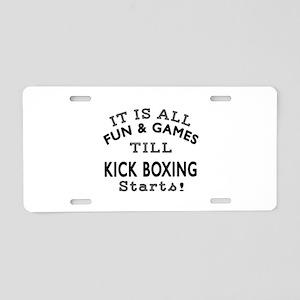 Kick Boxing Fun And Game De Aluminum License Plate
