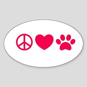 Peace, Love, Pets Sticker