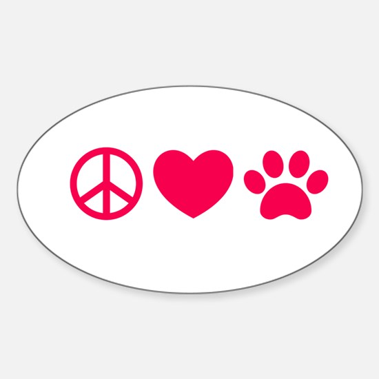 Peace, Love, Pets Decal
