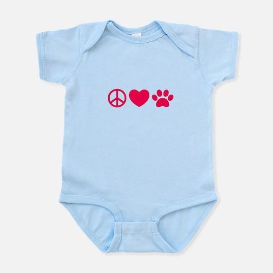 Peace, Love, Pets Body Suit