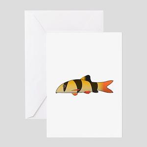 Clown Loach Greeting Cards