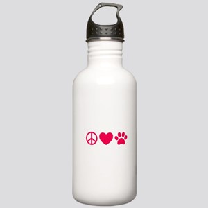 Peace, Love, Pets Stainless Water Bottle 1.0L