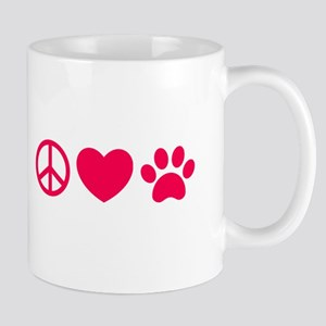 Peace, Love, Pets Mugs