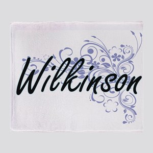 Wilkinson surname artistic design wi Throw Blanket