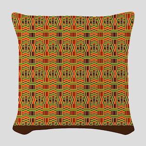 Colorful Kente Woven Throw Pillow