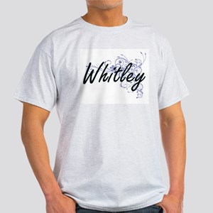 Whitley surname artistic design with Flowe T-Shirt