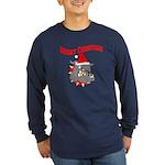 Merry Christmas Devil Dog Long Sleeve Dark T-Shir