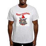 Merry Christmas Devil Dog Light T-Shirt