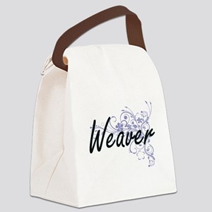 Weaver surname artistic design wi Canvas Lunch Bag